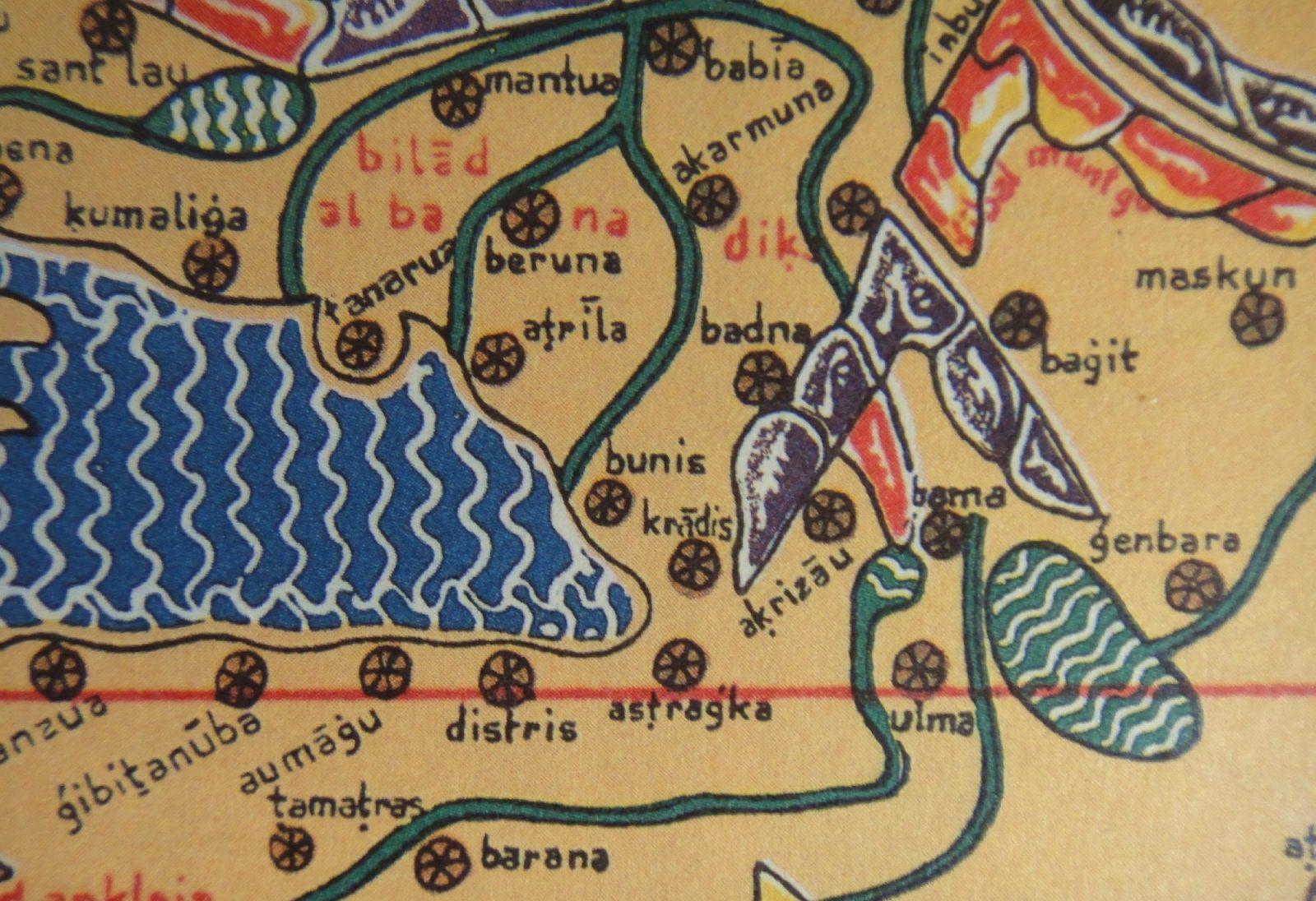laguna; mappa antica; Grado Kradis; Grado; Al-Idrisi